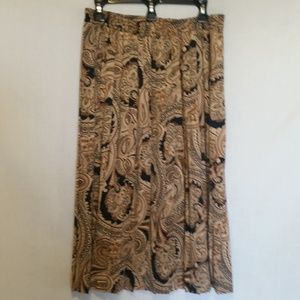 Alfred Dunner Skirts - Alfred Dunner Brown/Black Pleated Skirt Size 16P